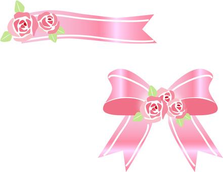 Ribbon rose decoration