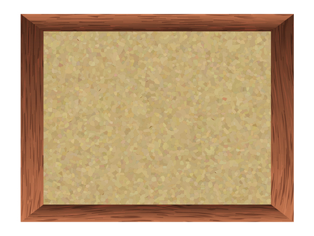 Wood grain frame, cork board