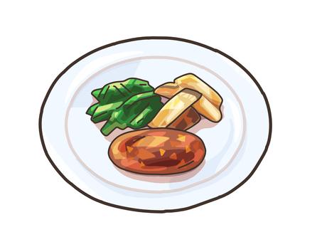 햄버거 요리 정평 양식 서양식 소재
