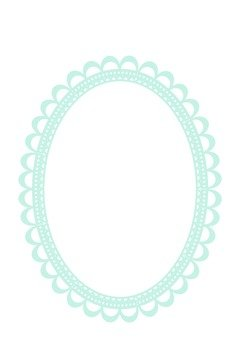 Light blue oval frame
