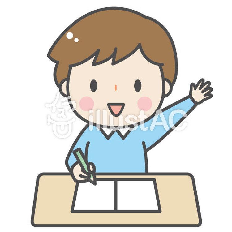 勉強するかわいい男の子イラスト No 1162399無料イラストなら