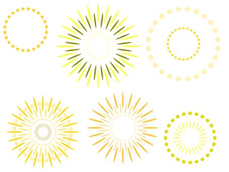 Fireworks set (yellow series)
