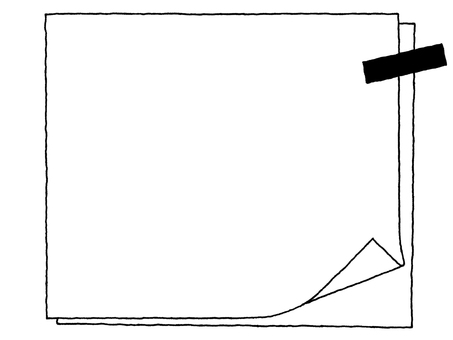 Notepad (turn down) monochrome