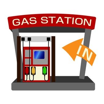 Gas station in