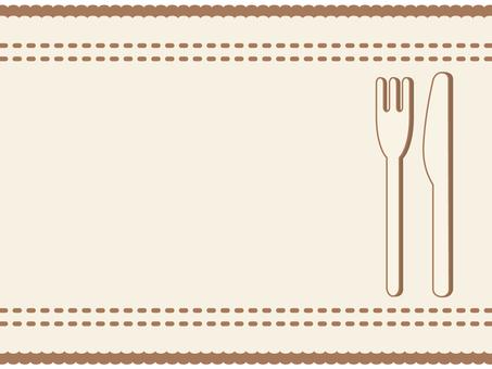 Luncheon mat frame / frame