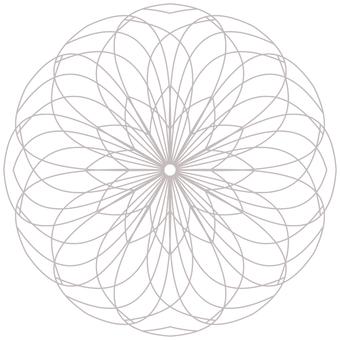"""Coloring page """"Flower Temari / Geometry-2"""""""