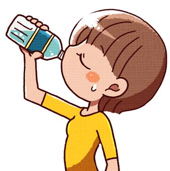 Women feeding hydration