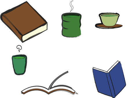 Books and green tea