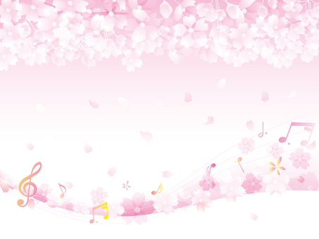 Cherry blossom spring background _ note