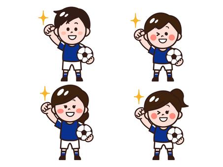 Football player / club activities / football classroom