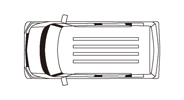 Light car (line drawing, upper side) wagon