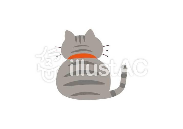 猫ぽっちゃり猫アメショイラスト No 1205795無料イラストなら