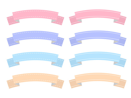 Lined ribbon pastel color