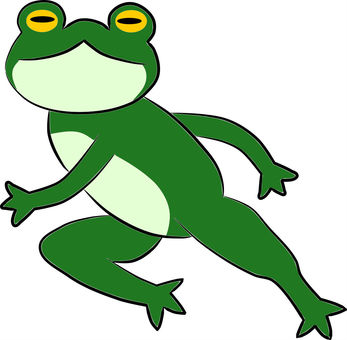 Run and frog