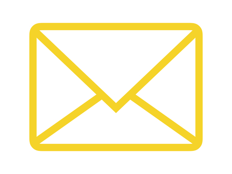 Email Mail Mark letter icon yellow