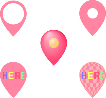 Position pin _ 5 pink