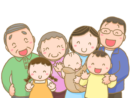 Family facing front