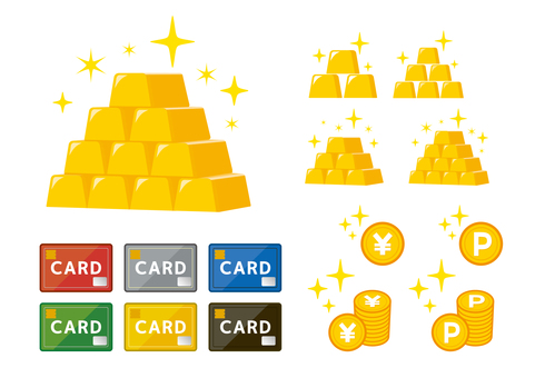 Asset money Pure gold card set