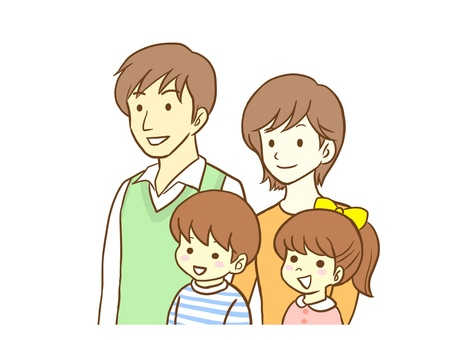 4 인 가족의 그림