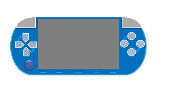 携帯ゲーム機(青)