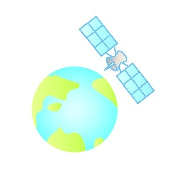 Earth and artificial satellite