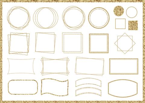 Blonde frame set