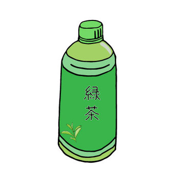 PET bottle green tea