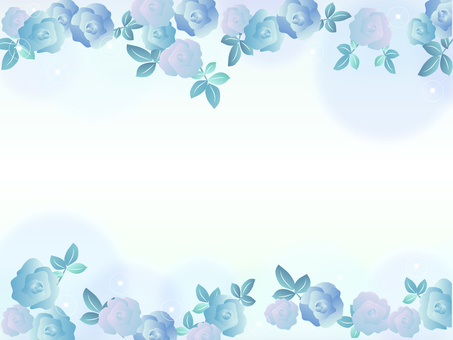 장미 프레임 꽃 블루