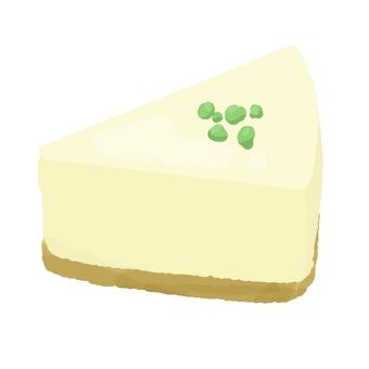 Pistachio dusted rare cheese cake