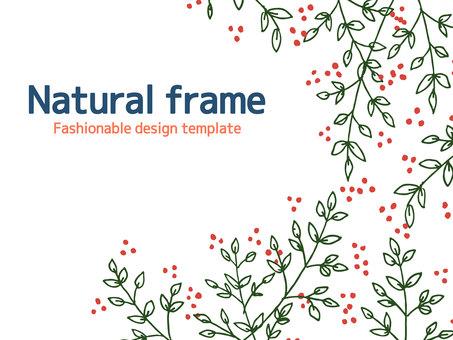Plant simple frame <03>