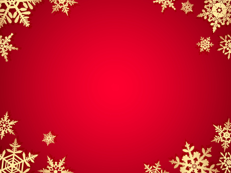 Snow crystal background · red