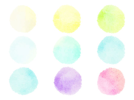 Pale watercolor circle