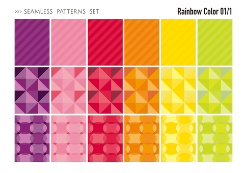 Seamless pattern set / warm color 01