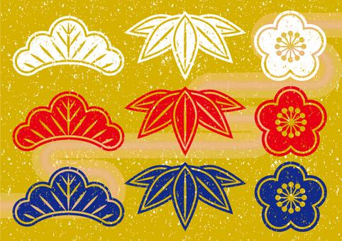 Shochiku style stamp style
