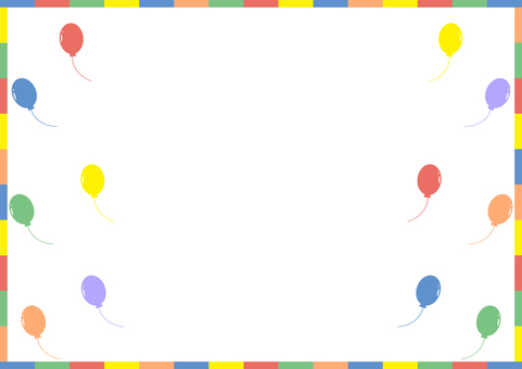 Balloon colorful frame