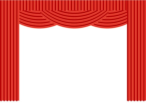 Stage curtain red