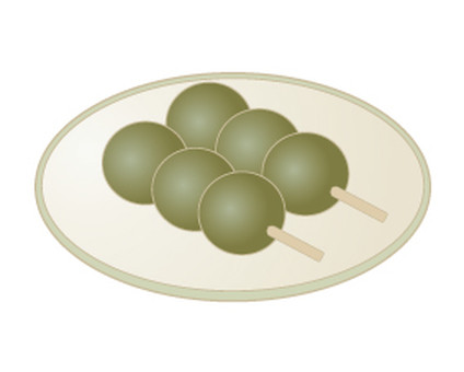 Grass dumplings _ Japanese sweets