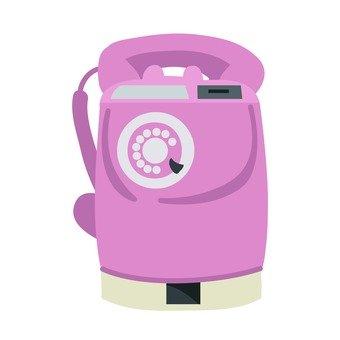 Retro public phone (peach)