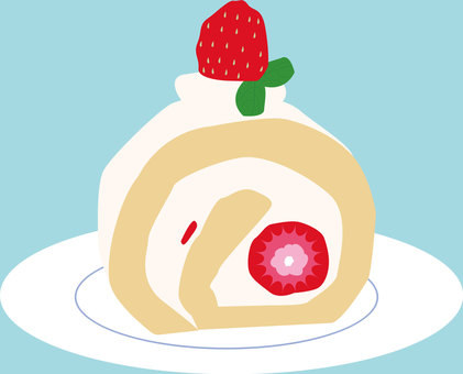 Food 29_ Roll cake _ strawberry_ sweets