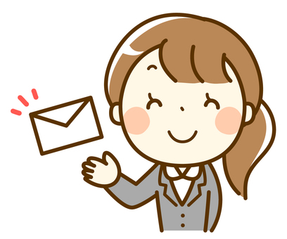 Suit woman sending mail