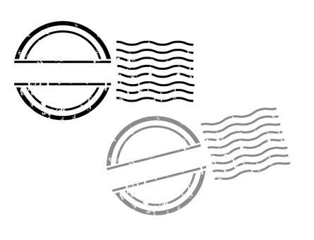 우표 스탬프 프레임