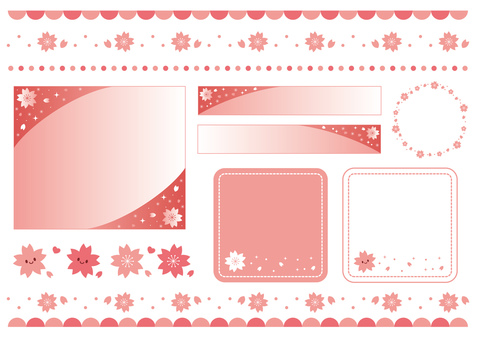Sakura motif material