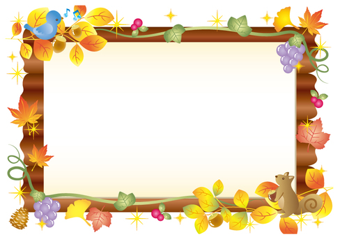 Autumn forest bulletin board (no background)