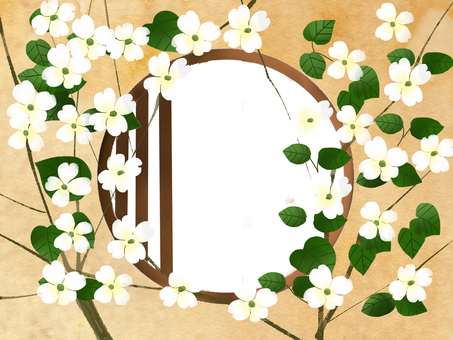 Window frame of flower wood tree sum