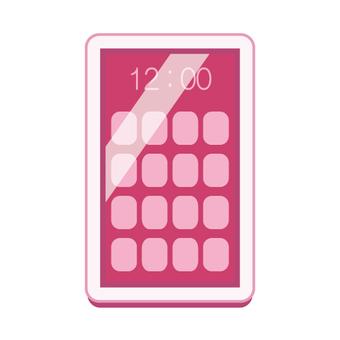스마트 폰 (핑크 계열)