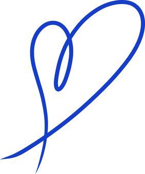 Heart ribbon navy blue