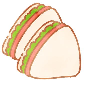 낙서 바람 샌드위치