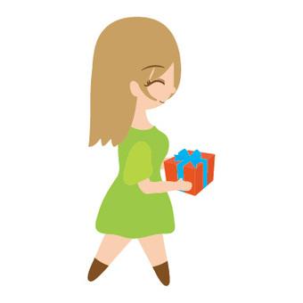 여성 선물을 전달 4 (데포)
