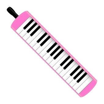 Keyboard harmonica (pink)