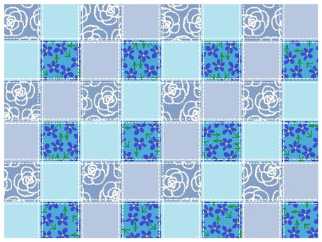 Patchwork style background blue series